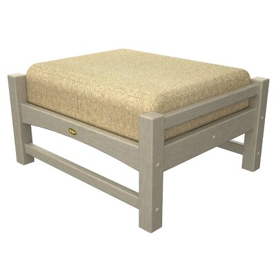 Rockport Club Ottoman Color: Sand Castle / Sesame