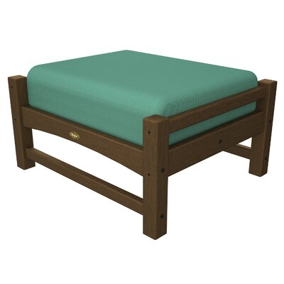 Rockport Club Ottoman Color: Tree House / Spa