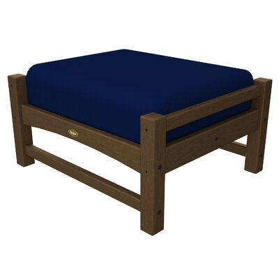 Rockport Club Ottoman Color: Tree House / Navy