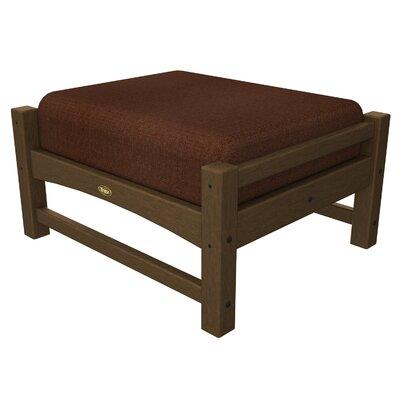 Rockport Club Ottoman Color: Tree House / Chili