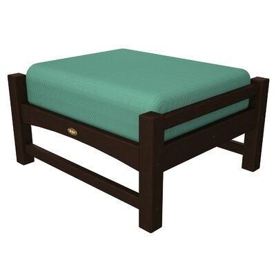 Rockport Club Ottoman Color: Vintage Lantern / Spa