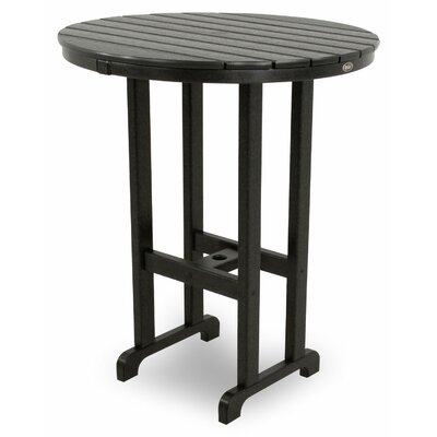 Monterey Bay Bar Table Table Size: 36, Finish: Charcoal Black