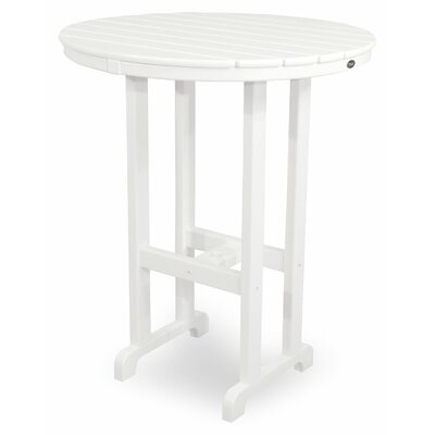 Monterey Bay Bar Table Finish: Classic White, Table Size: 36