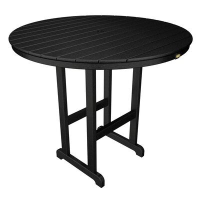 Monterey Bay Bar Table Table Size: 48, Finish: Charcoal Black