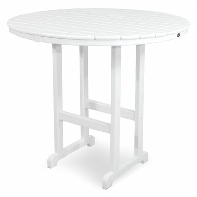 Monterey Bay Bar Table Table Size: 48, Finish: Classic White