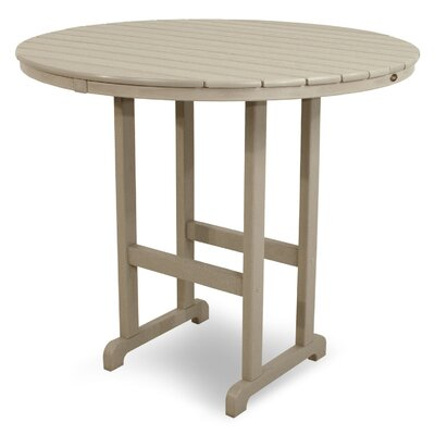 Monterey Bay Bar Table Table Size: 48, Finish: Sand Castle