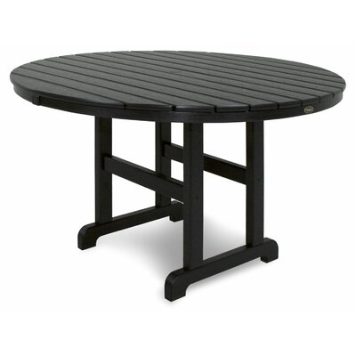 Monterey Bay Dining Table Finish: Charcoal Black, Table Size: 48