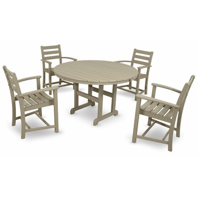Monterey Bay 5 Piece Dining Set Color: Sand Castle