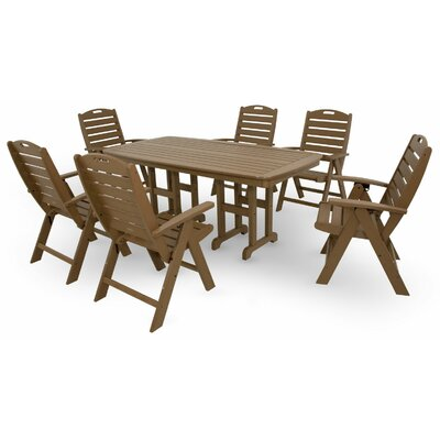 Yacht Club 7 Piece Dining Set Color: Tree House
