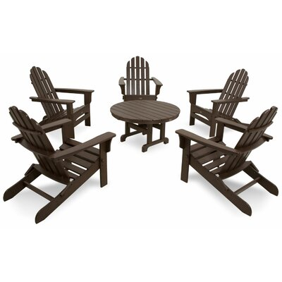 Cape Cod Folding 6 Piece Adirondack Seating Group Color: Vintage Lantern