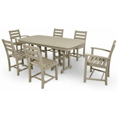 Monterey Bay 7 Piece Dining Set Color: Sand Castle