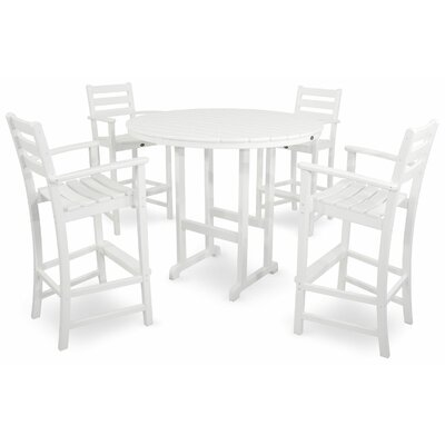 Trex Outdoor Monterey Bay 5 Piece Bar Set Color: Classic White