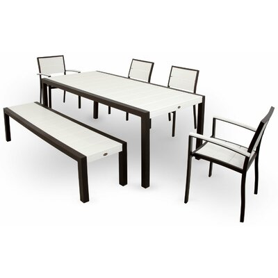 Surf City 6 Piece Dining Set Color: Textured Bronze / Classic White