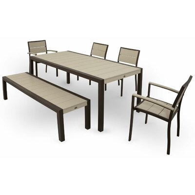 Surf City 6 Piece Dining Set Color: Textured Bronze / Sand Castle