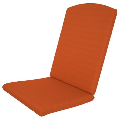 Solid Outdoor Sunbrella Rocking Chair Cushion Fabric: Tangerine