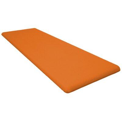 Seat Cushion Fabric: Tangerine, Size: 48