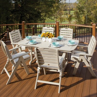 Yacht Club 7 Piece Dining Set Color: Sand Castle