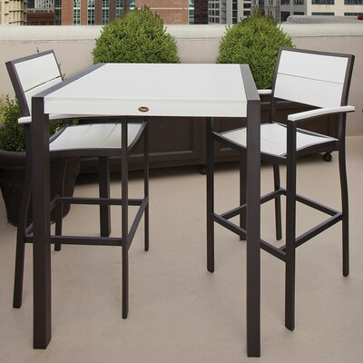 Trex Outdoor Surf City 3 Piece Bar Set - Color: Textured Silver / Charcoal Black at Sears.com