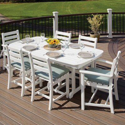 Monterey Bay 7 Piece Dining Set Color: Classic White