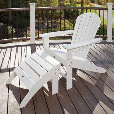 Trex Outdoor Cape Cod Adirondack Chair (Set of 2) - Color: Rainforest Canopy at Sears.com