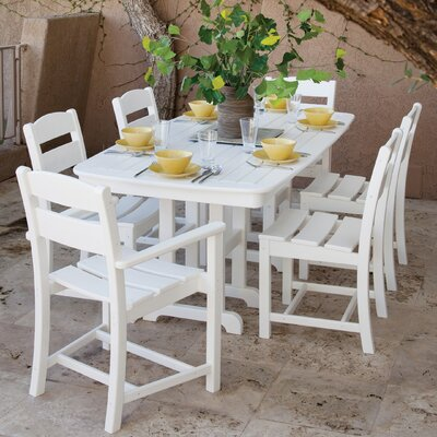 Ivy Terrace 7 Piece Dining Set Color: White