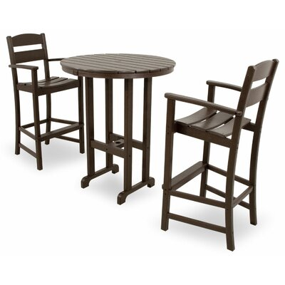 Ivy Terrace 3 Piece Bar Set Color: Mahogany