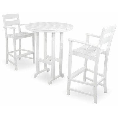 Classics 3 Piece Bar Set Color: White