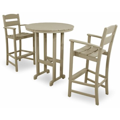 Ivy Terrace 3 Piece Bar Set Color: Sand