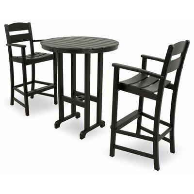 Ivy Terrace 3 Piece Bar Set Color: Black
