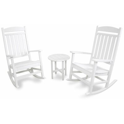 3 Piece Rocker Seating Group Color: White