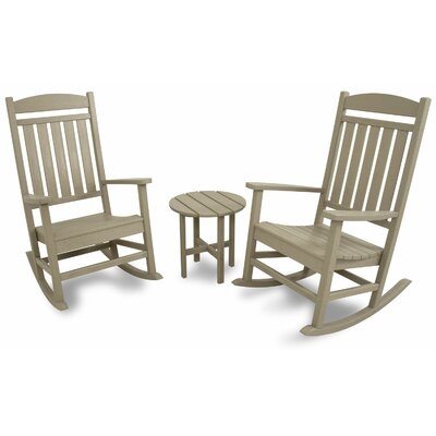 3 Piece Rocker Seating Group Color: Sand