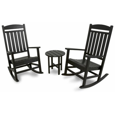 3 Piece Rocker Seating Group Color: Black