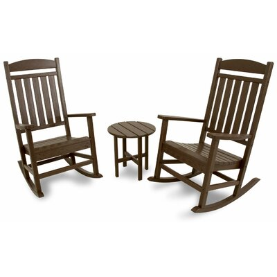 3 Piece Rocker Seating Group Color: Mahogany