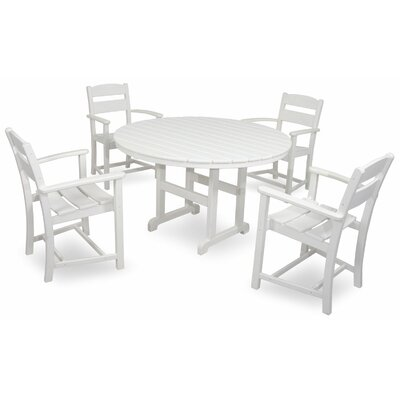 Classics 5 Piece Dining Set Color: White