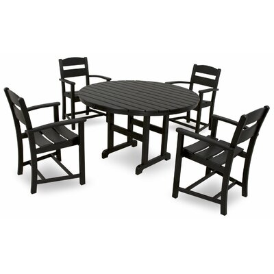 Classics 5 Piece Dining Set Color: Black