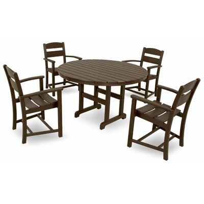 Classics 5 Piece Dining Set Color: Mahogany