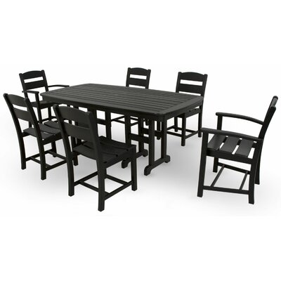 Ivy Terrace 7 Piece Dining Set Color: Black
