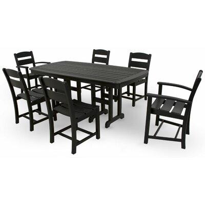 Ivy Terrace 7 Piece Dining Set Color: Black