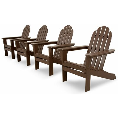 Ivy Terrace Classics 4 Piece Adirondack Seating Group Color: Mahogany