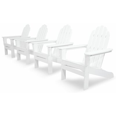 Ivy Terrace Classics 4 Piece Adirondack Seating Group Color: White
