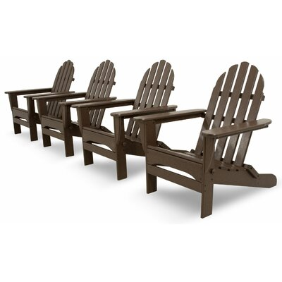 Ivy Terrace Classics 4 Piece Folding Adirondack Seating Group Color: Mahogany