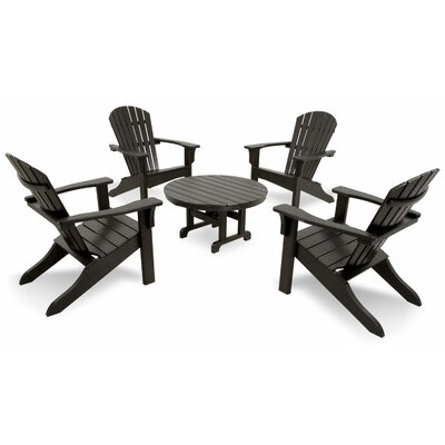 Ivy Terrace Classics 5 Piece Adirondack Seating Group Color: Black