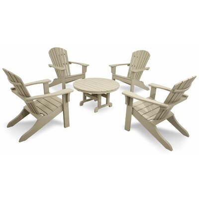 Ivy Terrace Classics 5 Piece Adirondack Seating Group Color: Sand