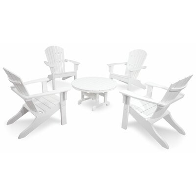 Ivy Terrace Classics 5 Piece Adirondack Seating Group Color: White