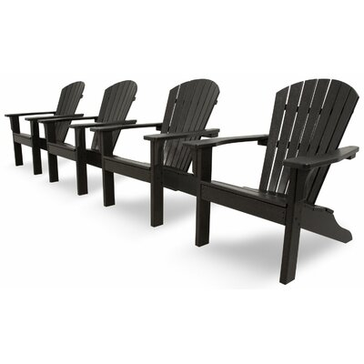 Ivy Terrace Classics 4 Piece Adirondack Seating Group Color: Black