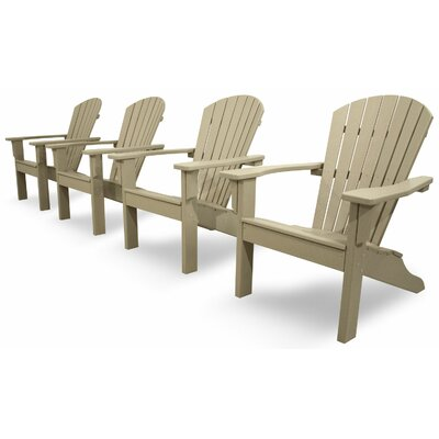 Ivy Terrace Classics 4 Piece Adirondack Seating Group Color: Sand