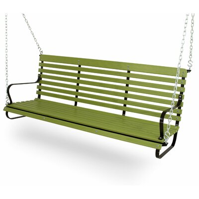 Vintage Porch Swing Color: Black/Lime