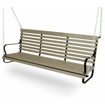 Vintage Porch Swing Color: Black/Sand