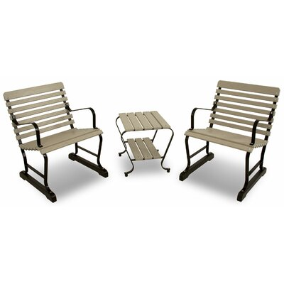 Vintage 3 Piece Seating Group Color: Black/Sand