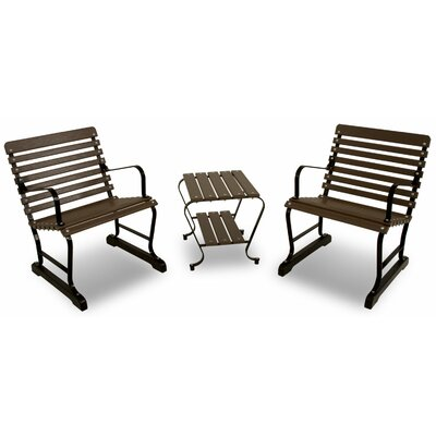 Vintage 3 Piece Seating Group Color: Black/Mahogany